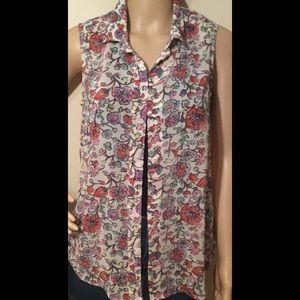 H&M Flower Sleeveless Top Size 6