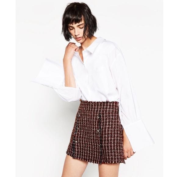 4d9da945 Zara Tweed Button Front Skirt. M_5879c593620ff78aba026995