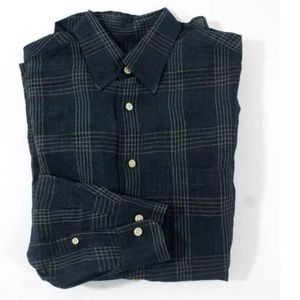 Hickey Freeman Other - Hickey Freeman blue linen shirt Sz small