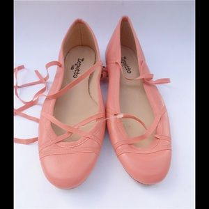 Repetto Shoes - Peach Coral Repetto Ballet Shoes Flats Slippers