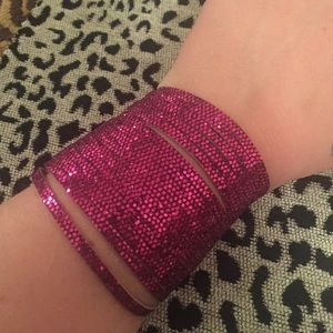 House of Holland Jewelry - BNWT: disco dot glitter sliced wide cuff