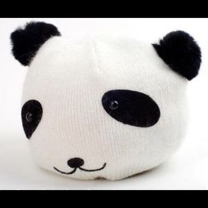 Cashmere Blend Panda Bear Beanie Hat