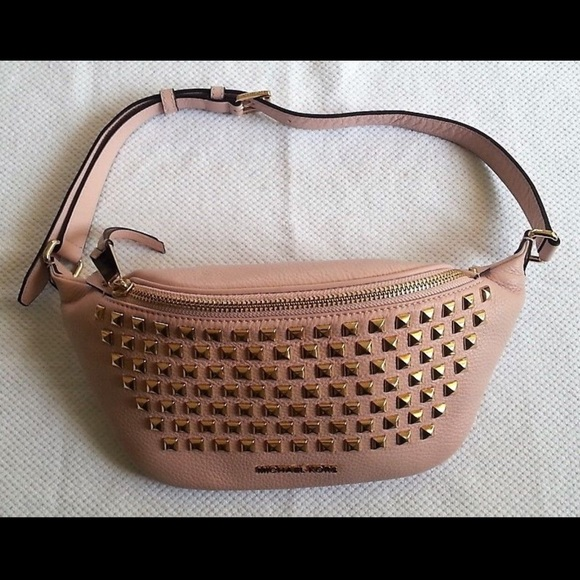 69228249650a Michael Kors Bags | Rhea Zip Leather Belt Bag | Poshmark