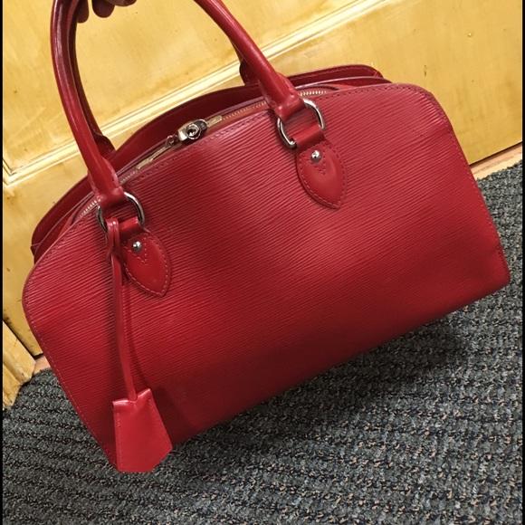 7de71a2e LOUIS VUITTON Red Epi Leather Pont Neuf PM Bag