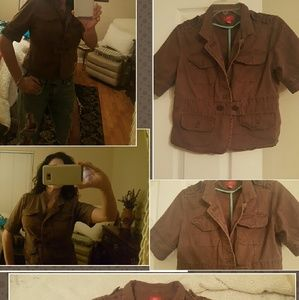 mossimo  Jackets & Blazers - REDUCED! DENIM MATERIAL SHORT SLEEVE UTILITY TOP