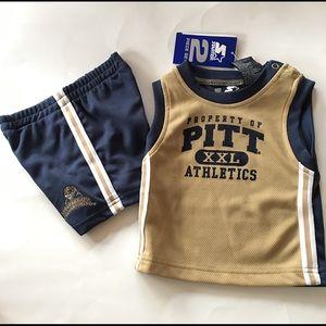 NEW UNIVERSITY PITTSBURGH twinset shorts muscle T