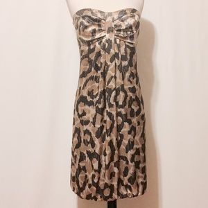 Donna Ricco Dresses & Skirts - Donna Ricco Silk Strapless Animal Print Dress