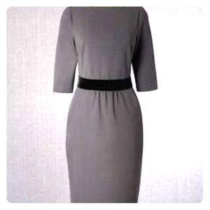 Boden Lana dress. 10P, gray with black waistband