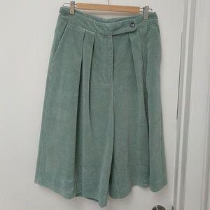 Dries Van Noten Pamplona Velvet Bermuda Shorts