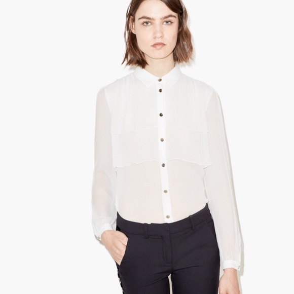 7cfdc1f7f01 The Kooples Tops | Silk Shirt With Ruffled Layers | Poshmark