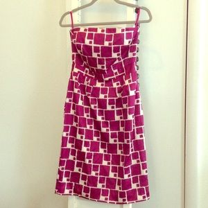 Strapless summer cocktail dress
