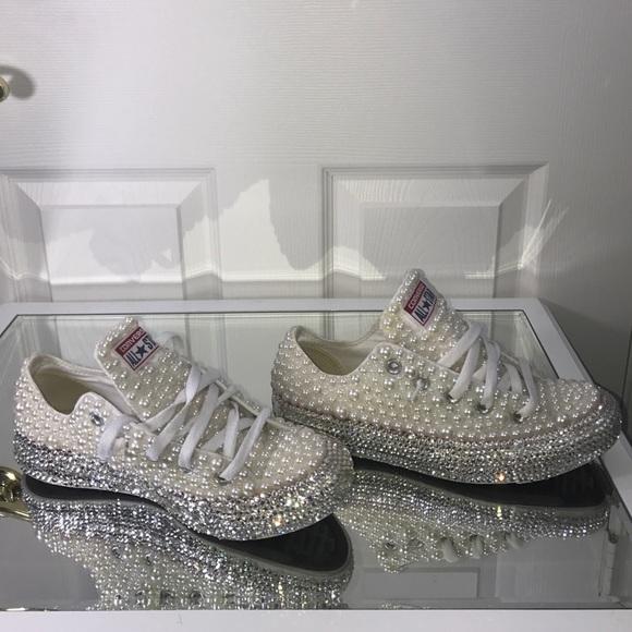 Converse Shoes - Custom Bling Pearl Converse f5131ebd2