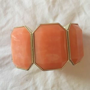 Charming Charlie Jewelry - Coral and Gold Bangle Bracelet