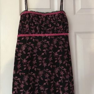Mirrors Dresses & Skirts - Sun Dress strap sleeves black and pink