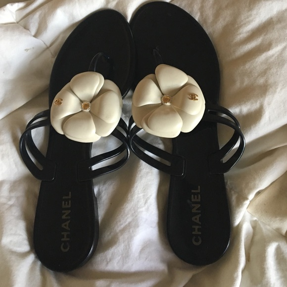 d2750eb8ebd6   REDUCED   Authentic Chanel Camille Jelly Sandals