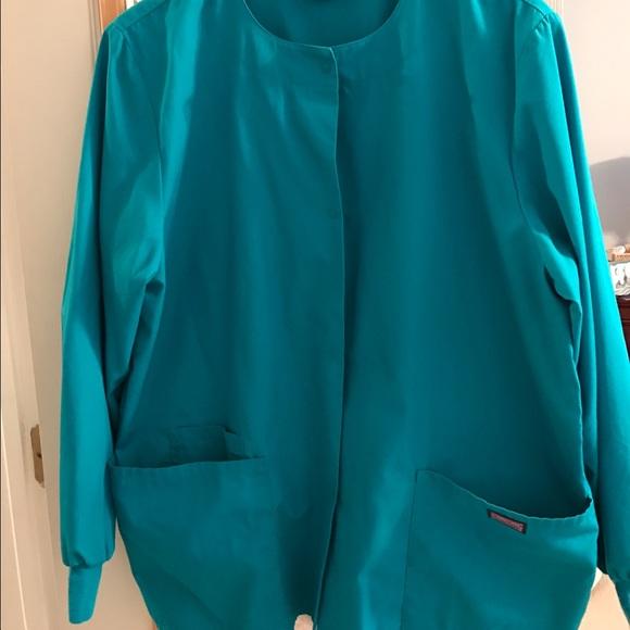9a1d8572861 Cherokee Jackets & Blazers - Cherokee Workwear teal scrub jacket M