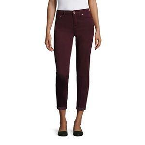 Stylus Denim - NWOT Stylus skinny burgundy ankle jeans! 8 tall!