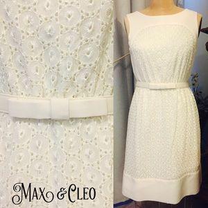 "Max & Cleo Dresses & Skirts - MAX & CLEO ""Audrey Hepburn style"" white dress"