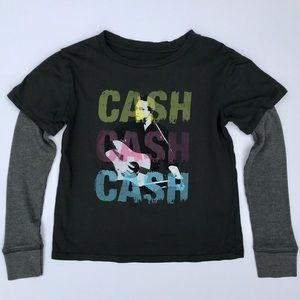Rowdy Sprout Other - Johnny Cash Layered Tee