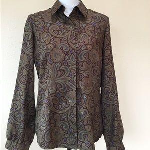 Thomas Pink Tops - Thomas Pink 100% Silk Button Front Blouse Size 12