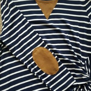Skies are Blue Tops - Navy and White Stripe Top