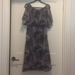 ModCloth floral midi dress size M