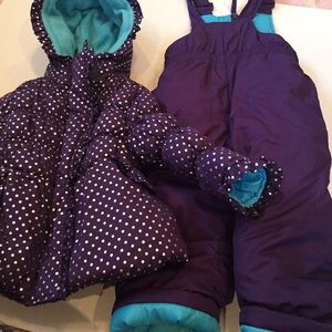 Pink Platinum Other - Winter Purple silver Snow set Jacket and jumpsuit