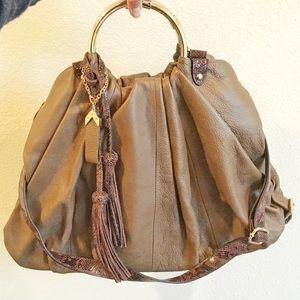 Charles David Leather Hobo Bag