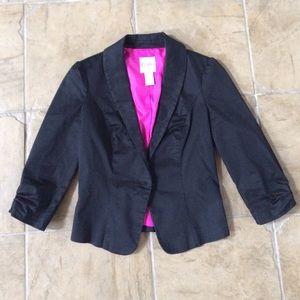 Candie's Black Blazer w/Button Front