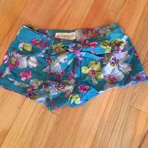 Aeropostale floral linen shorts