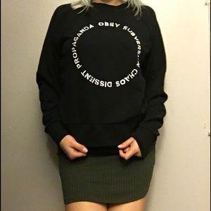 Obey Sweaters - Obey Propaganda Black Sweater