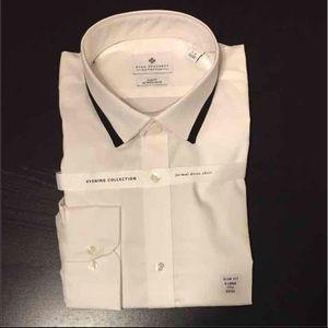 Ryan Seacrest Distinction Other - White formal dress shirt