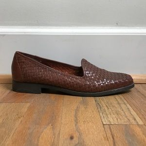 Vintage Woven Leather Loafers