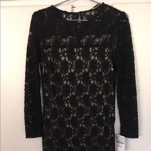 Lace ZARA black dress. M