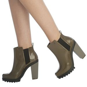 Melissa Shoes - New Melissa Soldier Boot Size 5 Brownish/Black