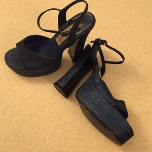 classified Shoes - Sparkly blue heels