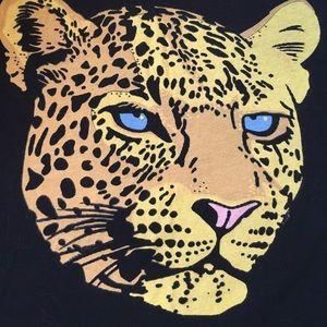 Wildfox Cheetah Black T Shirt