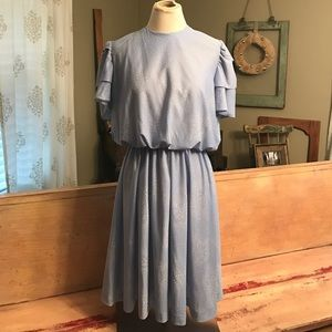 Vintage baby blue dress.