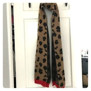 Juicy couture leopard wool scarf