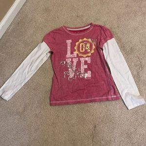 Justice Other - Pink Justice long sleeve shirt size 8