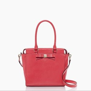 Kate Spade Bow Tote Satchel Strawberry Pink