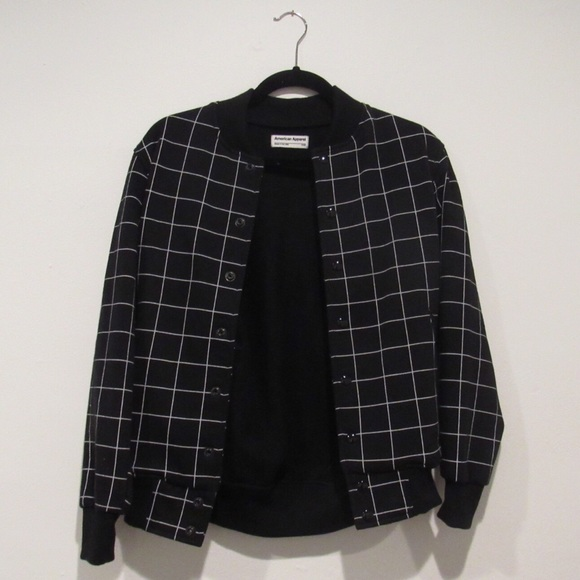 16804d2b2 American apparel grid bomber jacket