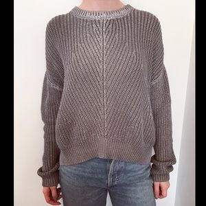 JOSEPH Metallic Silver Foil Sweater