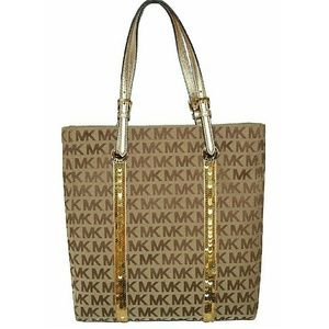 Michael Kors Handbags - 🆕MICHAEL KORS Jet Set Sequin Stripes Tote Bag