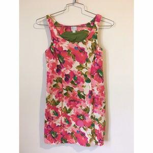 Anthropologie postmark floral linen dress size 00
