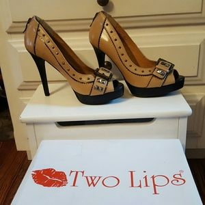 Two Lips  Shoes - Two Lips Peep Toe stiletto