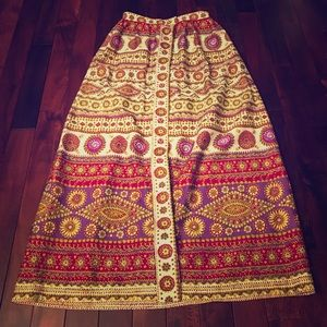 Vintage maxi skirt.