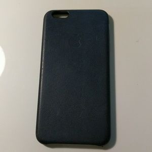 apple Accessories - iPhone 6plus leather case - navy