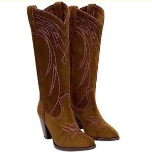 Frye Shoes - FRYE Leather Boots Southwestern Tall Riding Shoes