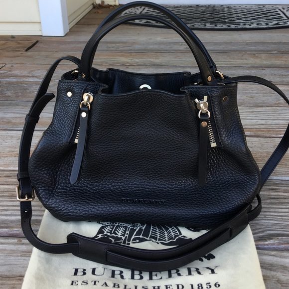 0de98e20ec6d NWT Burberry black leather Maidstone Tote Bag